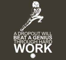 Rock Lee - A Dropout Will Beat A Genius Through Hard Work - White by yasashiikyojin