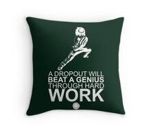 Rock Lee - A Dropout Will Beat A Genius Through Hard Work - White Throw Pillow