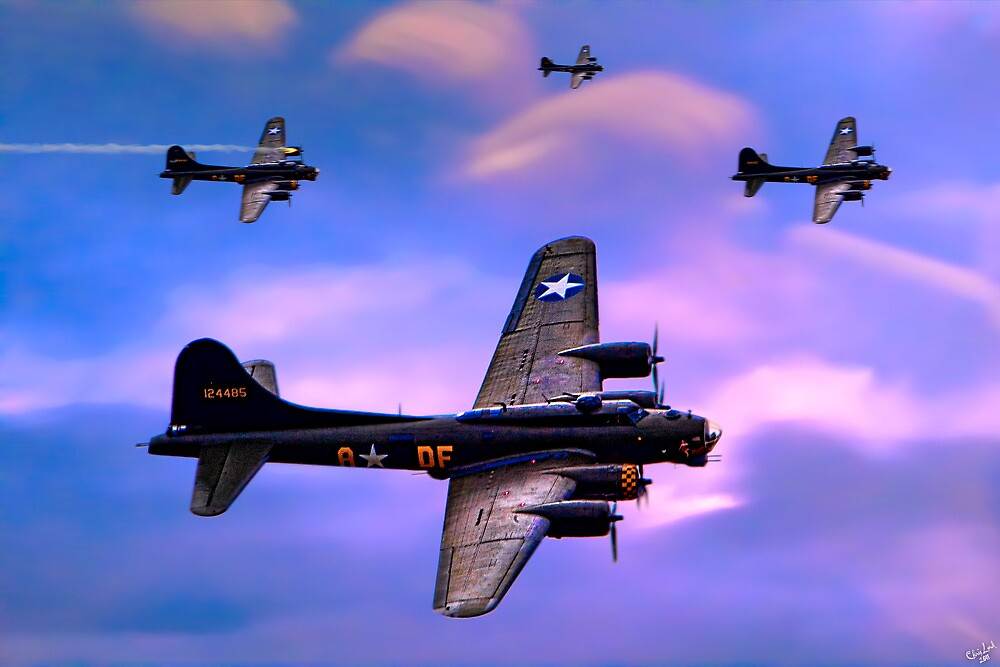 US Army Air Corps B17G Flying Fortress by Chris Lord