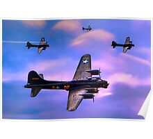 US Army Air Corps B17G Flying Fortress Poster