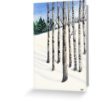 Watercolor 1_Snowy Hillside Greeting Card