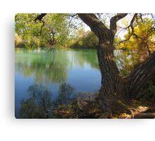 October Day On Sinton Pond (4) Canvas Print