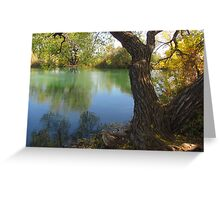 October Day On Sinton Pond (4) Greeting Card