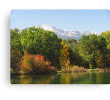 October Day On Sinton Pond (5) Canvas Print