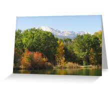 October Day On Sinton Pond (5) Greeting Card