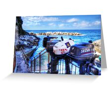 Ousted Outboards Greeting Card