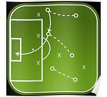 Football tactics board Poster