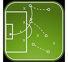 Football tactics board Photographic Print