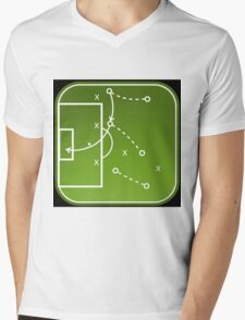 Football tactics board Mens V-Neck T-Shirt