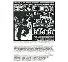 breakdown rain on the parade grey area show flyer Photographic Print