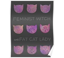 Feminist Witch and Fat Cat Lady Poster