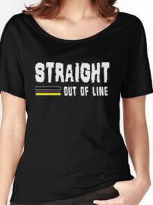 STRAIGHT OUT OF LINE 2 Women's Relaxed Fit T-Shirt