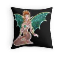 The Green Fairy Throw Pillow