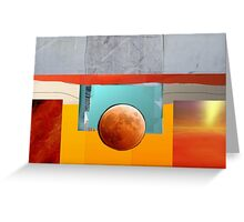 Abstract Moon Greeting Card