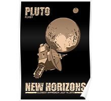 Pluto Flyby - New Horizons Poster