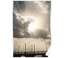 Heavenly Sun Beams Poster