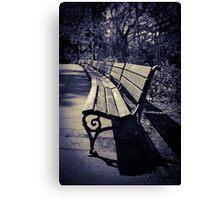 wooden bench Canvas Print