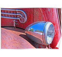 Red paint and chrome Poster