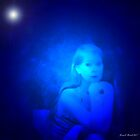 Woman in Blue by artstoreroom