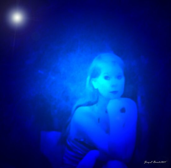 Woman in Blue by artstoreroom
