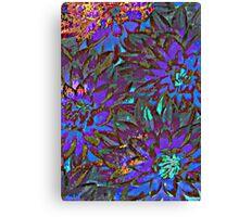 My Blue Dahlia - Digital Art  Canvas Print
