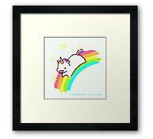 Cute Unicorn Framed Print