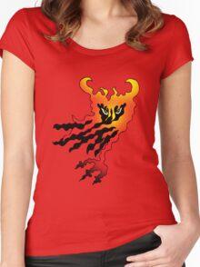 A hidden devil amongst flames Women's Fitted Scoop T-Shirt