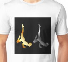 Silhouette of a person in advanced yoga pose  Unisex T-Shirt