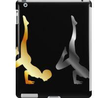Silhouette of a person in advanced yoga pose  iPad Case/Skin