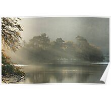 Sunrays on Rydal Water . Poster