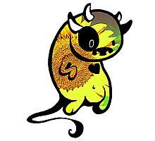 sunflower cow doodle design Photographic Print