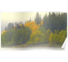 Fall Colors on Cold Big Lake Poster