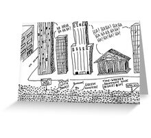 Occupy Wall Street as Bankers LOL Greeting Card