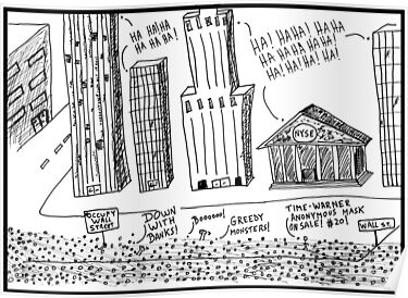 Occupy Wall Street as Bankers LOL by bubbleicious