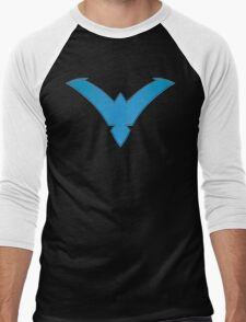 Nightwing Symbol (Blue) Men's Baseball ¾ T-Shirt