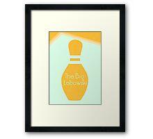 The Big Lebowski: Minimal Poster Framed Print