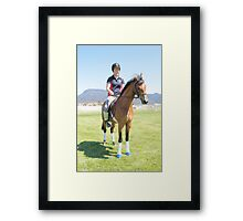 Warm-up - Royal Hobart Show 2011 Tasmania Framed Print