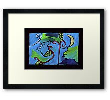 Midnight Garden cycle7 13 Framed Print