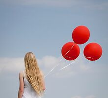 red balloons by Maria Heyens