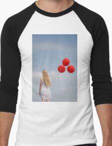 red balloons Men's Baseball ¾ T-Shirt