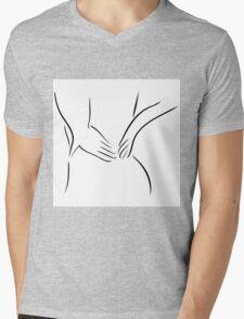 Back pain Mens V-Neck T-Shirt