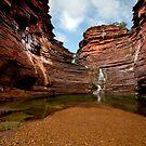 Joffre Falls Panorama - Karijini NP  by Matt  Streatfeild