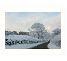 Road in winter/Ffordd yn y Gaeaf Art Print