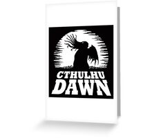 Cthulhu Dawn Greeting Card