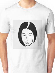 Face of a woman in short hair Unisex T-Shirt
