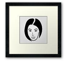 Face of a woman in short hair Framed Print