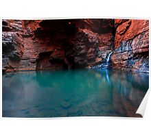 Handrail Pool - Weano Gorge - Karijini NP Poster