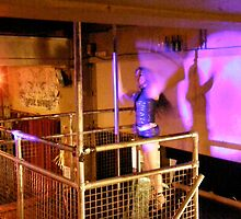 LONDON NIGHT 16 MONEY SHOT ~ POLE DANCER'S CHANGELING WALL SHADOW  by Tuartkatz