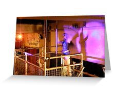 LONDON NIGHT 16 MONEY SHOT ~ POLE DANCER'S CHANGELING WALL SHADOW  Greeting Card