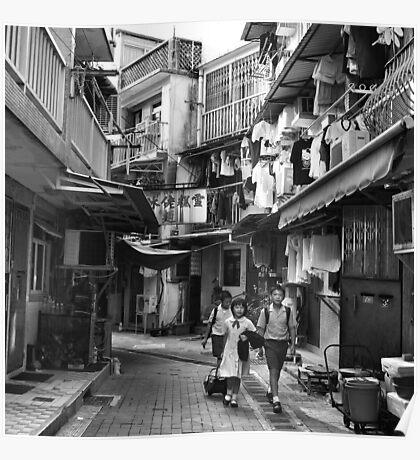 School children, Sai Kung, Hong Kong Poster